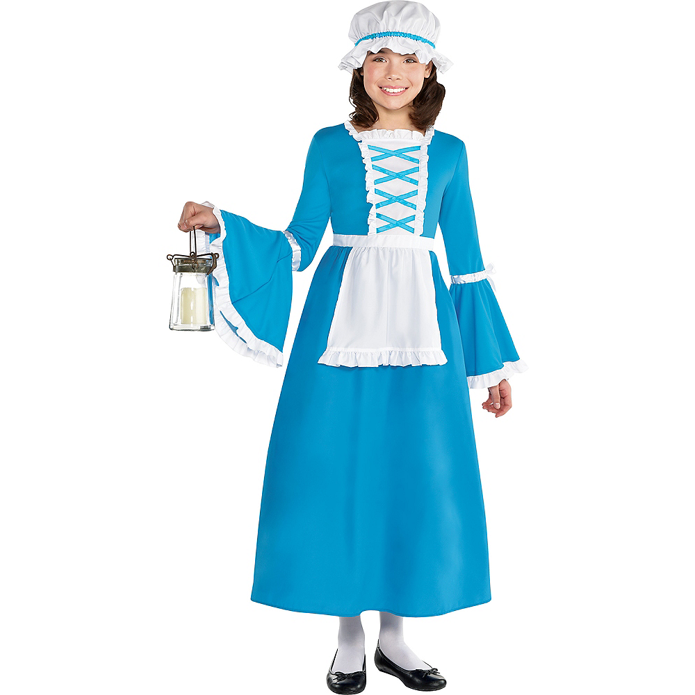 Girls Colonial Costume Accessory Kit Image #1