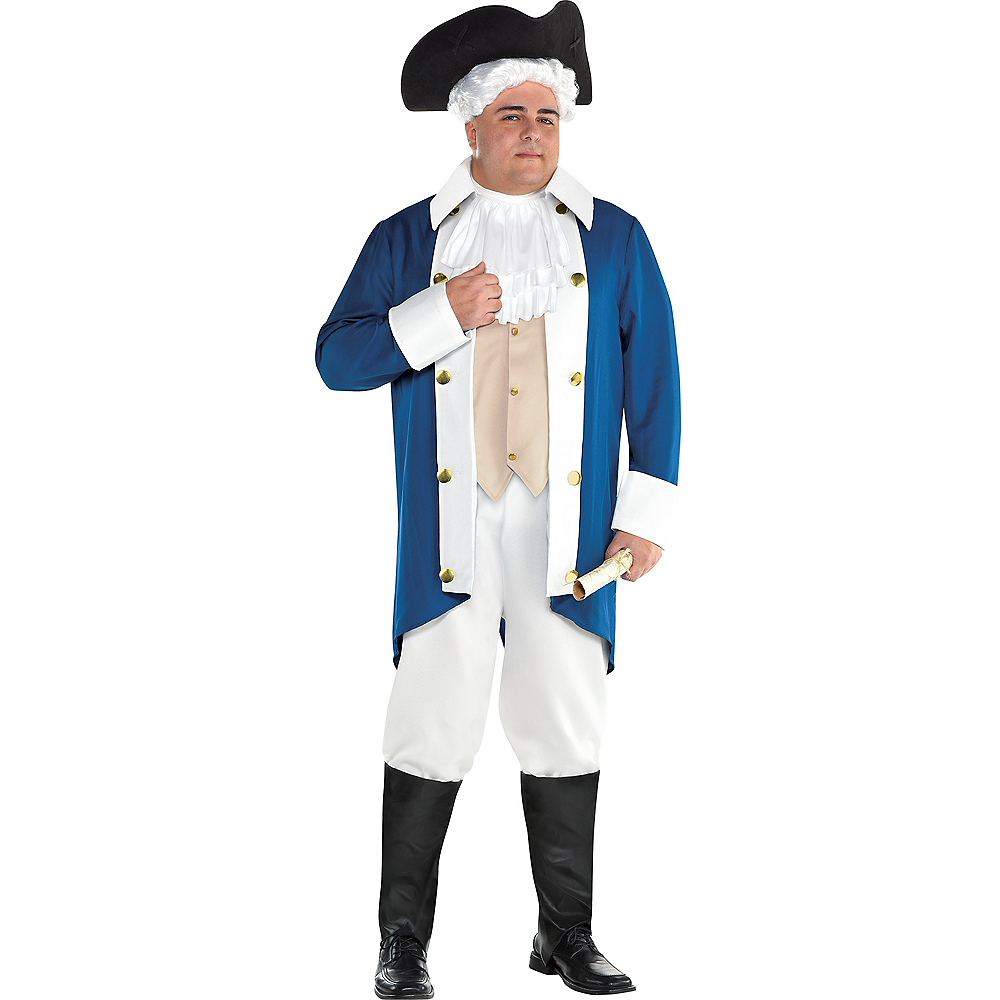 Mens George Washington Costume Accessory Kit Image #1