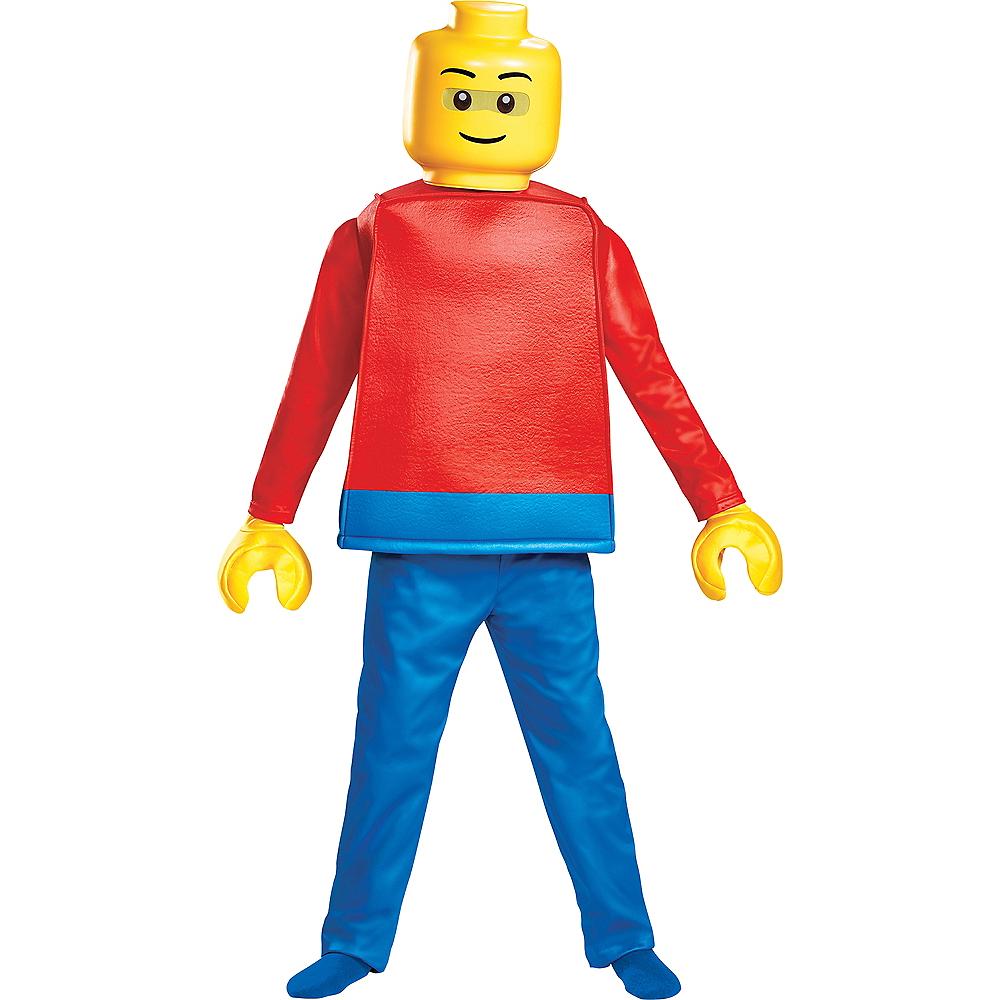 Child Lego Guy Costume Deluxe Image #1