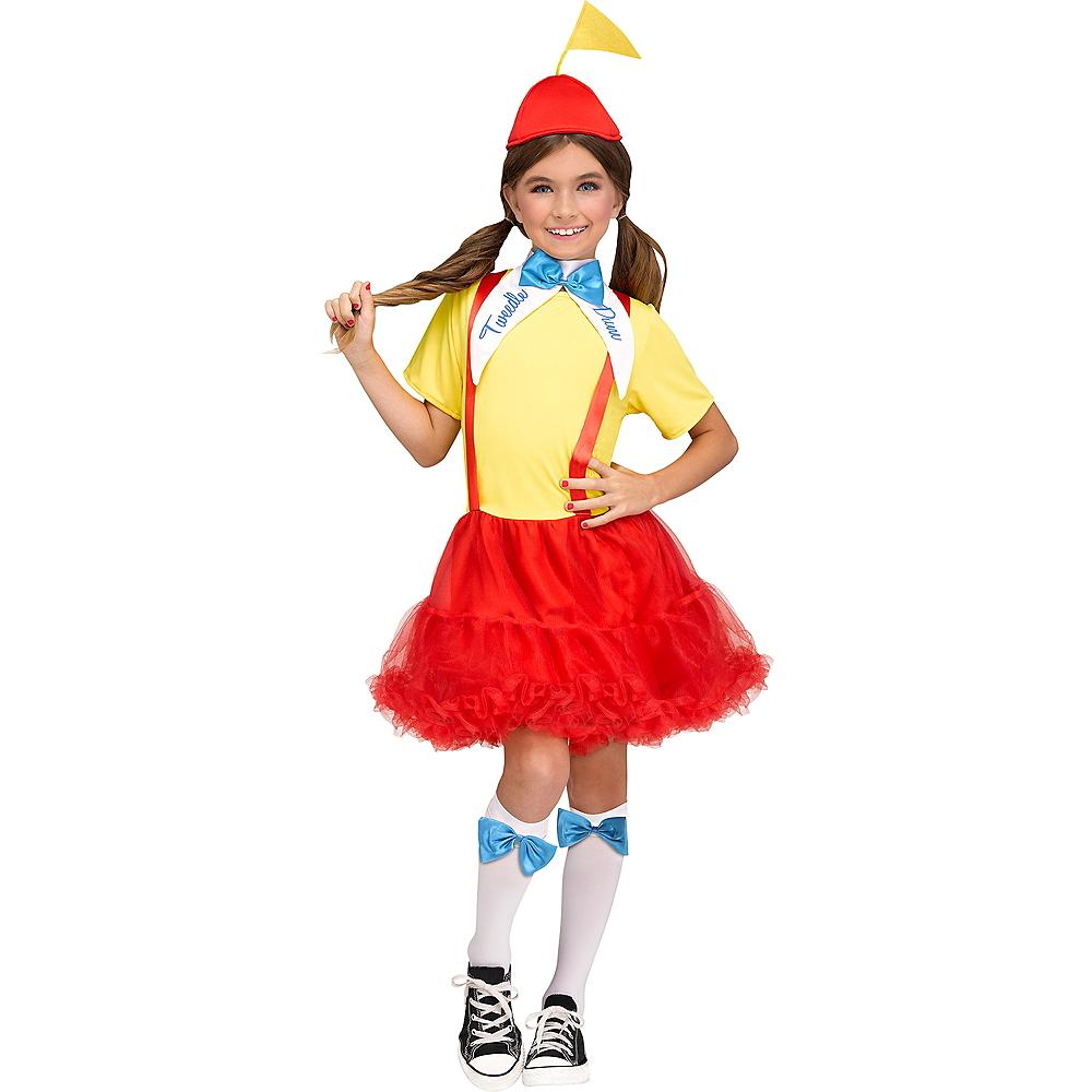 Girls Tweedle Dee & Tweedle Dum Costume Image #1