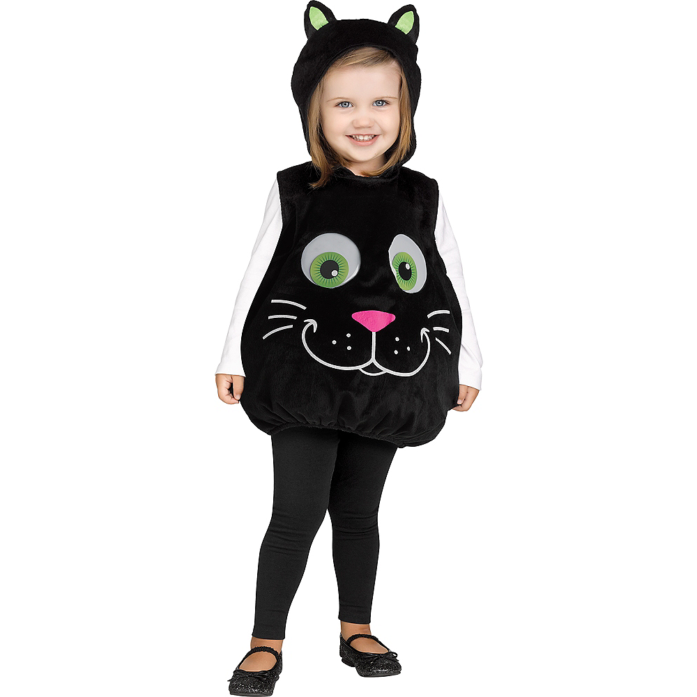 Baby Googly Eye Black Cat Costume Image #1