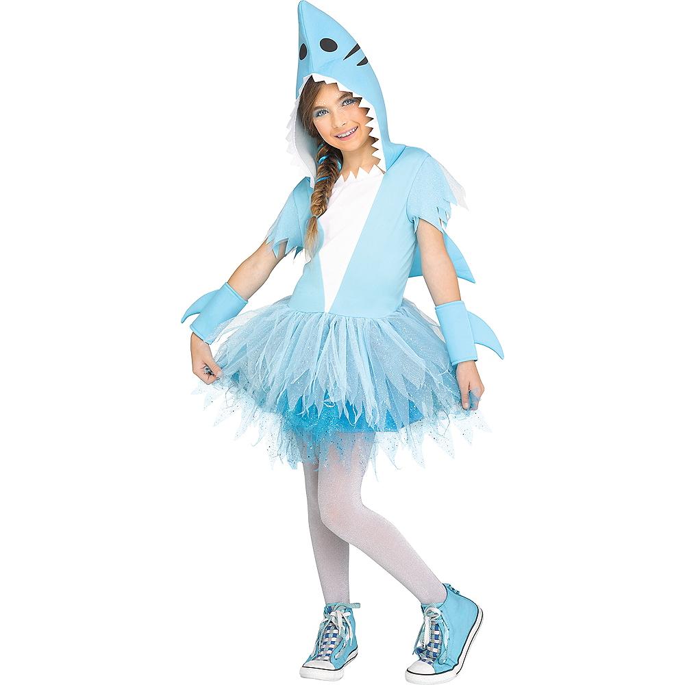 Girls Shark Costume Image #1