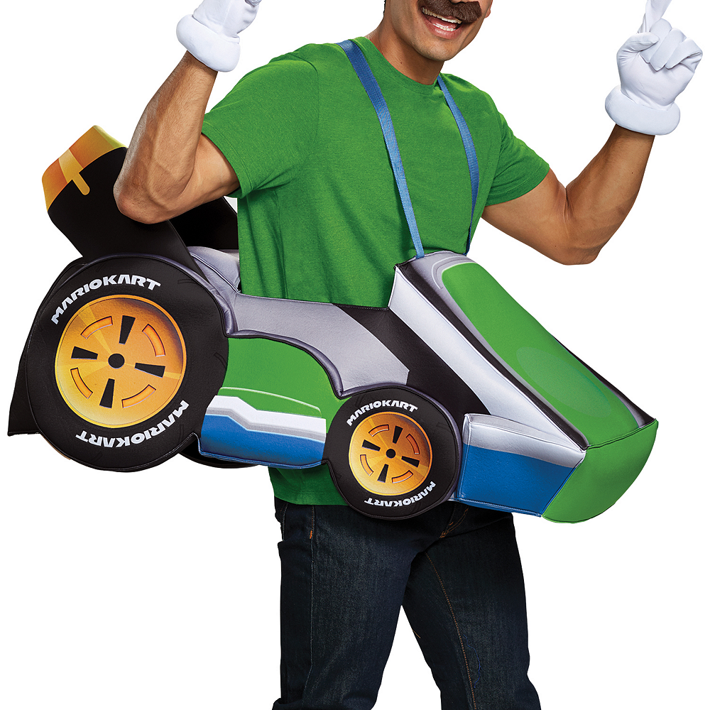 Adult Luigi Kart Ride-On Costume Image #2