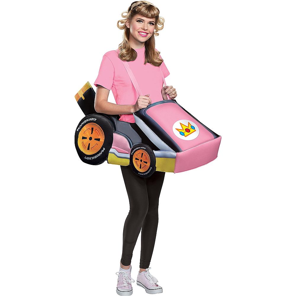 Adult Peach Kart Ride-On Costume Image #1