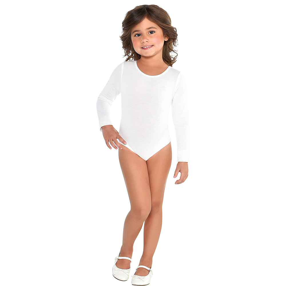 Nav Item for Toddler Girls White Bodysuit Image #1