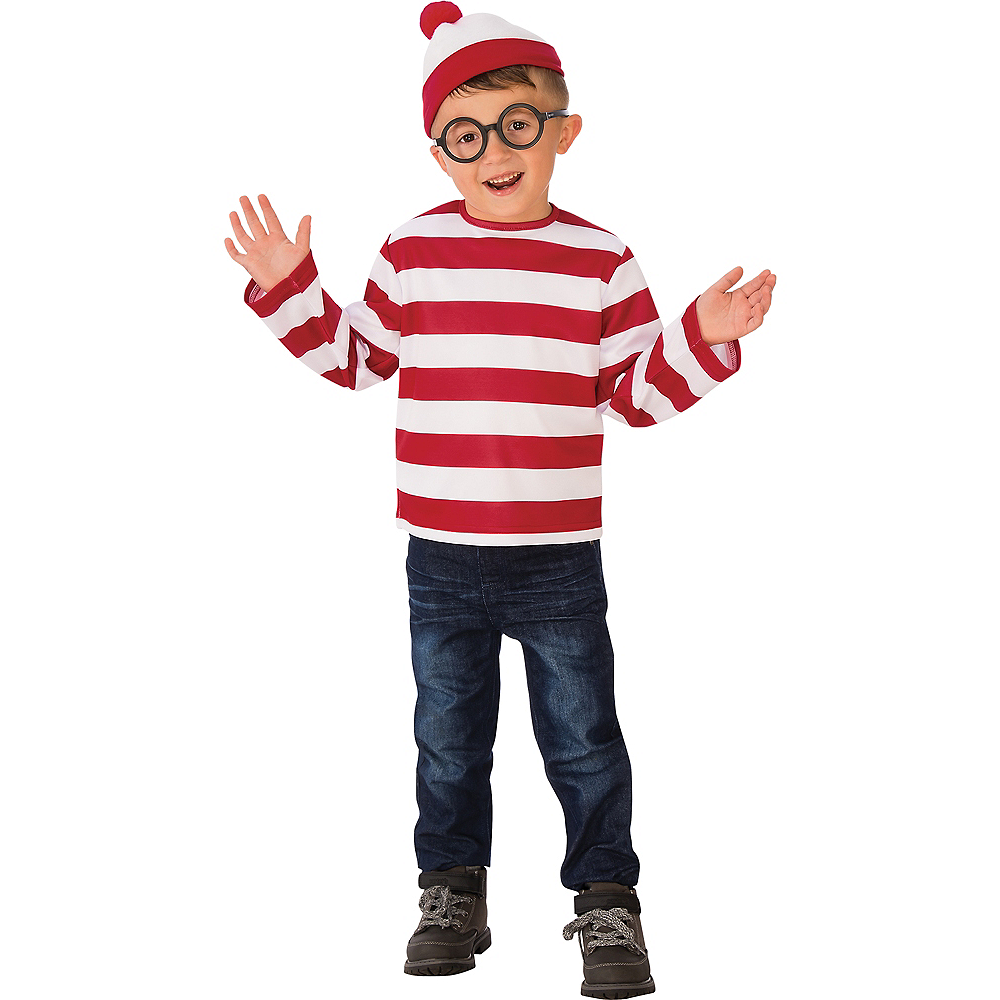 Where/'s Waldo Costume Kids Halloween Fancy Dress