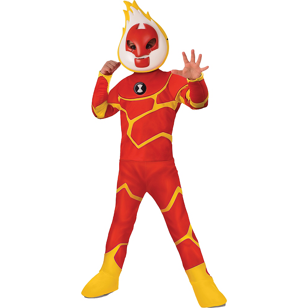 Boys Heatblast Costume - Ben 10 Image #1