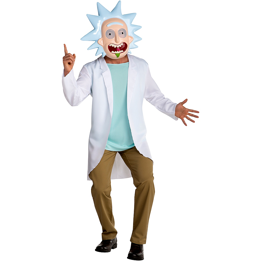 Nav Item for Teen Boys Rick Costume - Rick and Morty Image #1