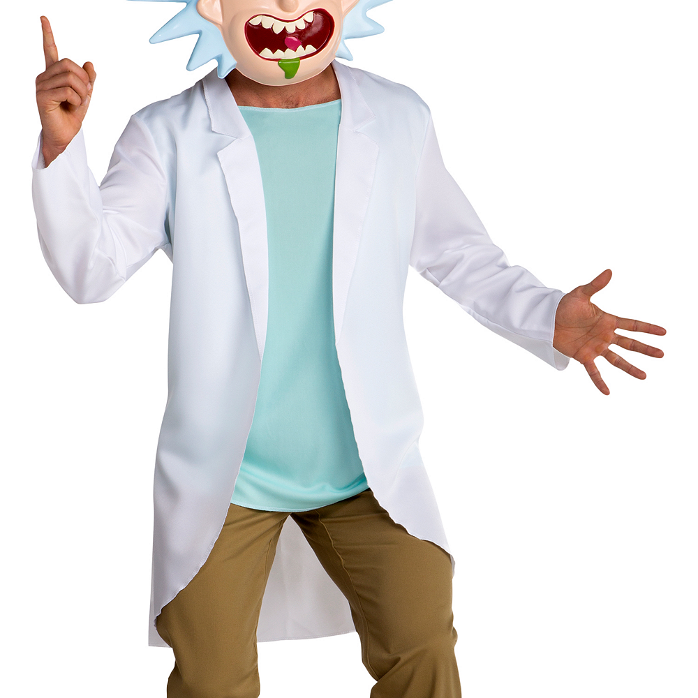Nav Item for Teen Boys Rick Costume - Rick and Morty Image #3