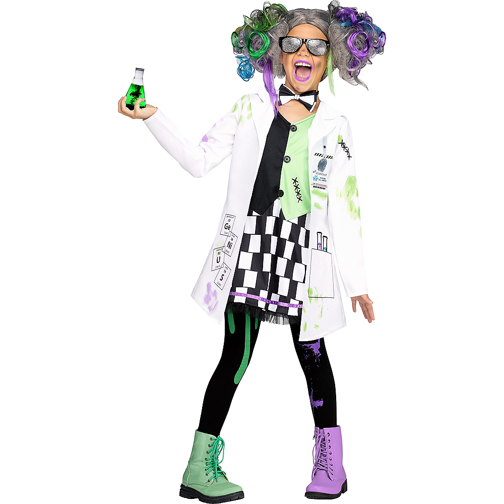 Girls Mad Scientist Costume Image #1