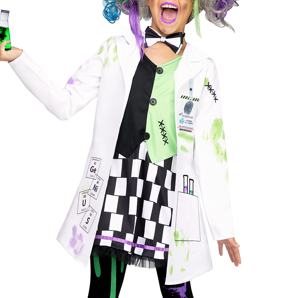 Girls Mad Scientist Costume Image #2
