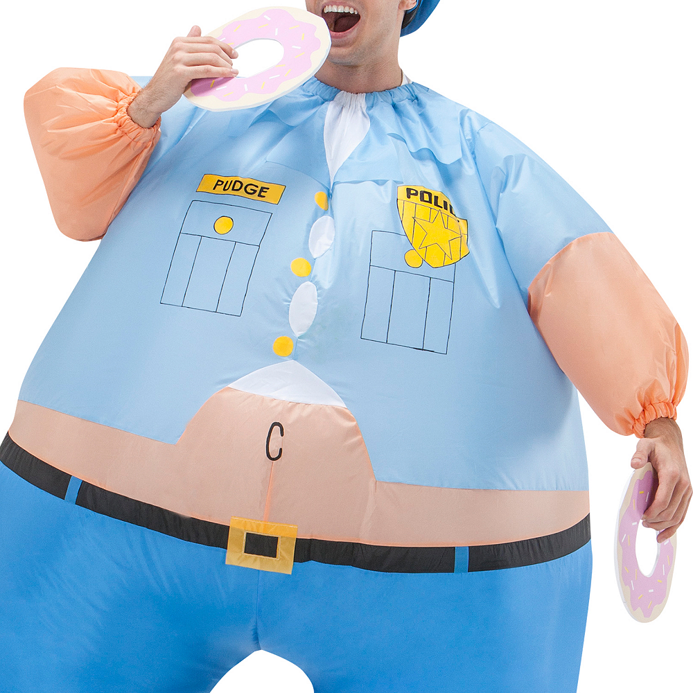 Adult Inflatable Cop Costume Image #2