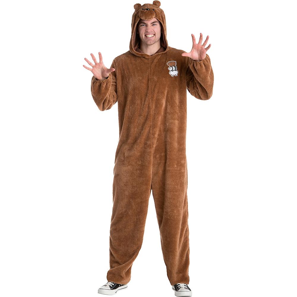 5ceea7f686 Adult Grizzly Bear One Piece Costume - We Bare Bears Image  1 ...