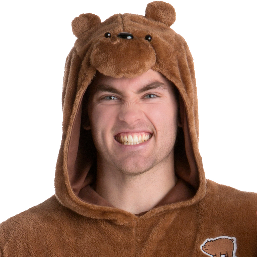 Adult Grizzly Bear One Piece Costume - We Bare Bears Image #2