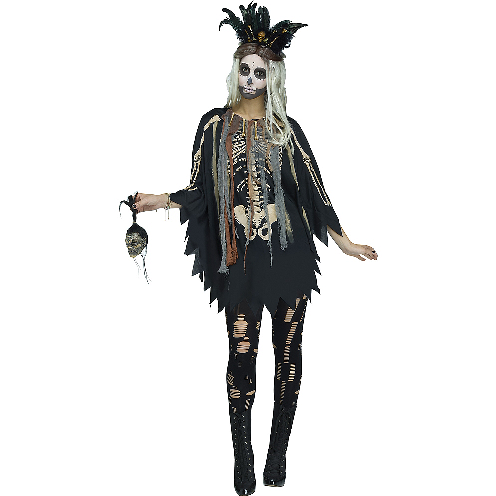 Womens Witch Doctor Poncho Party City