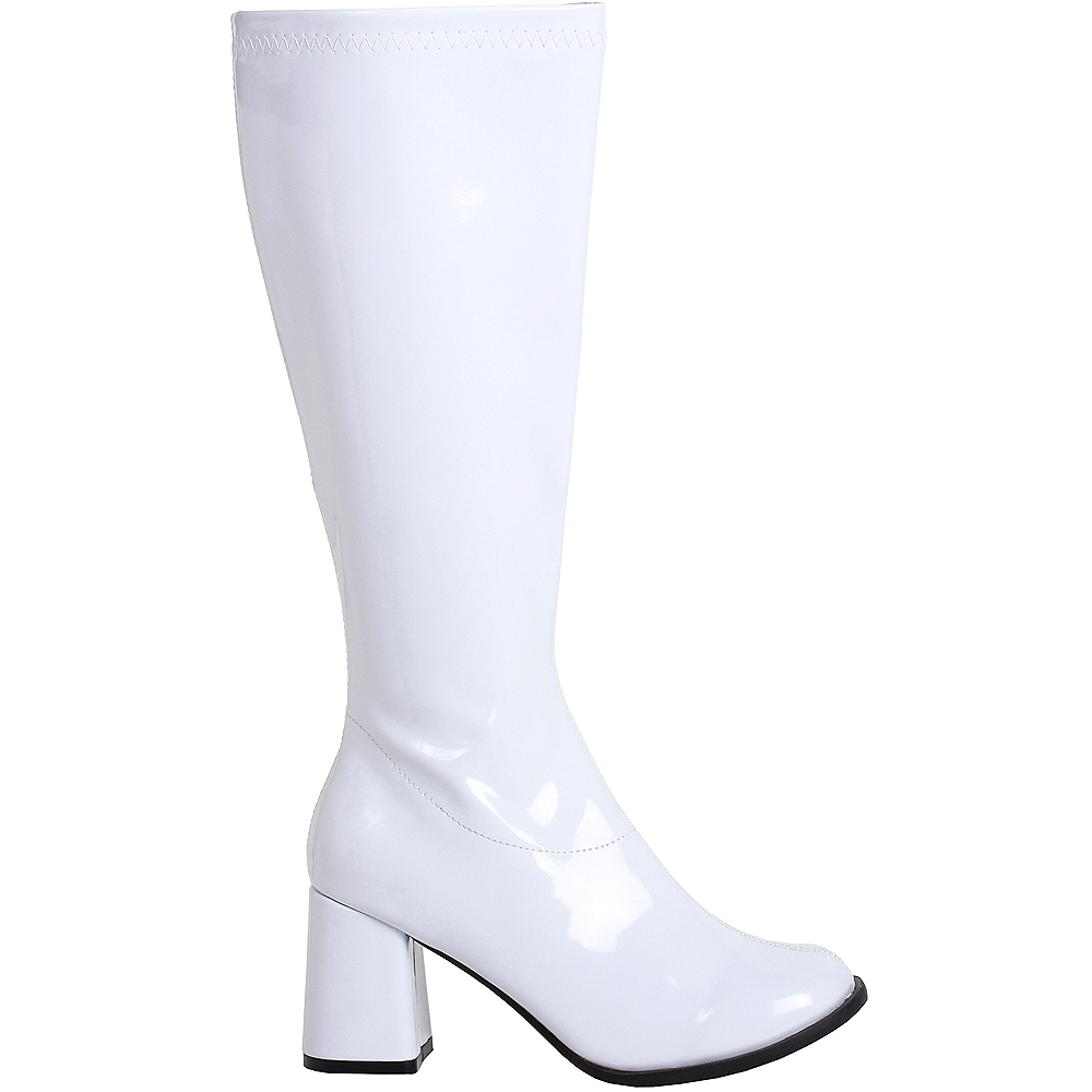 Nav Item for Womens White Go-Go Boots Image #1