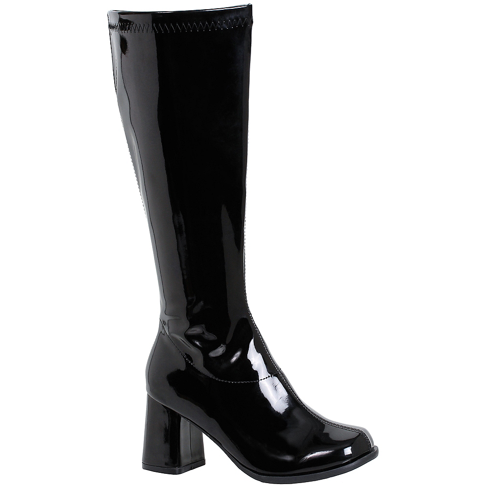 Nav Item for Womens Black Go-Go Boots Image #1