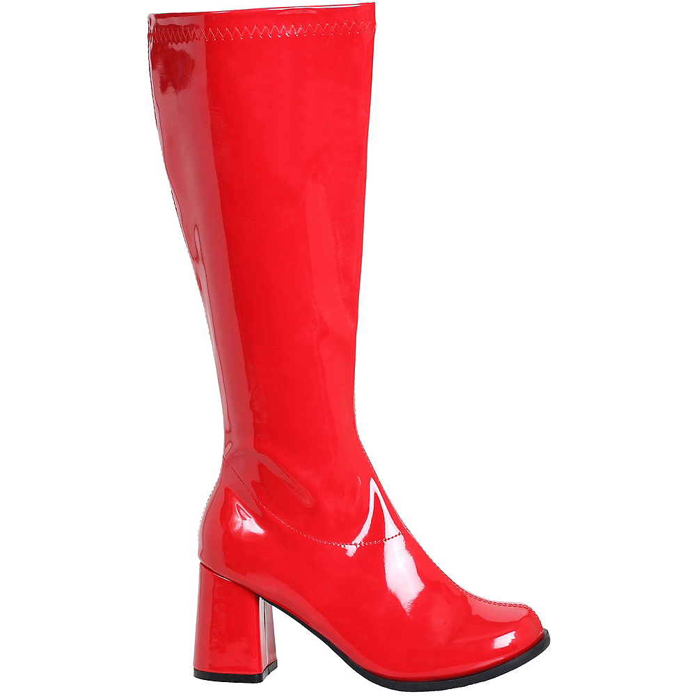 Womens Red Go-Go Boots Image #1