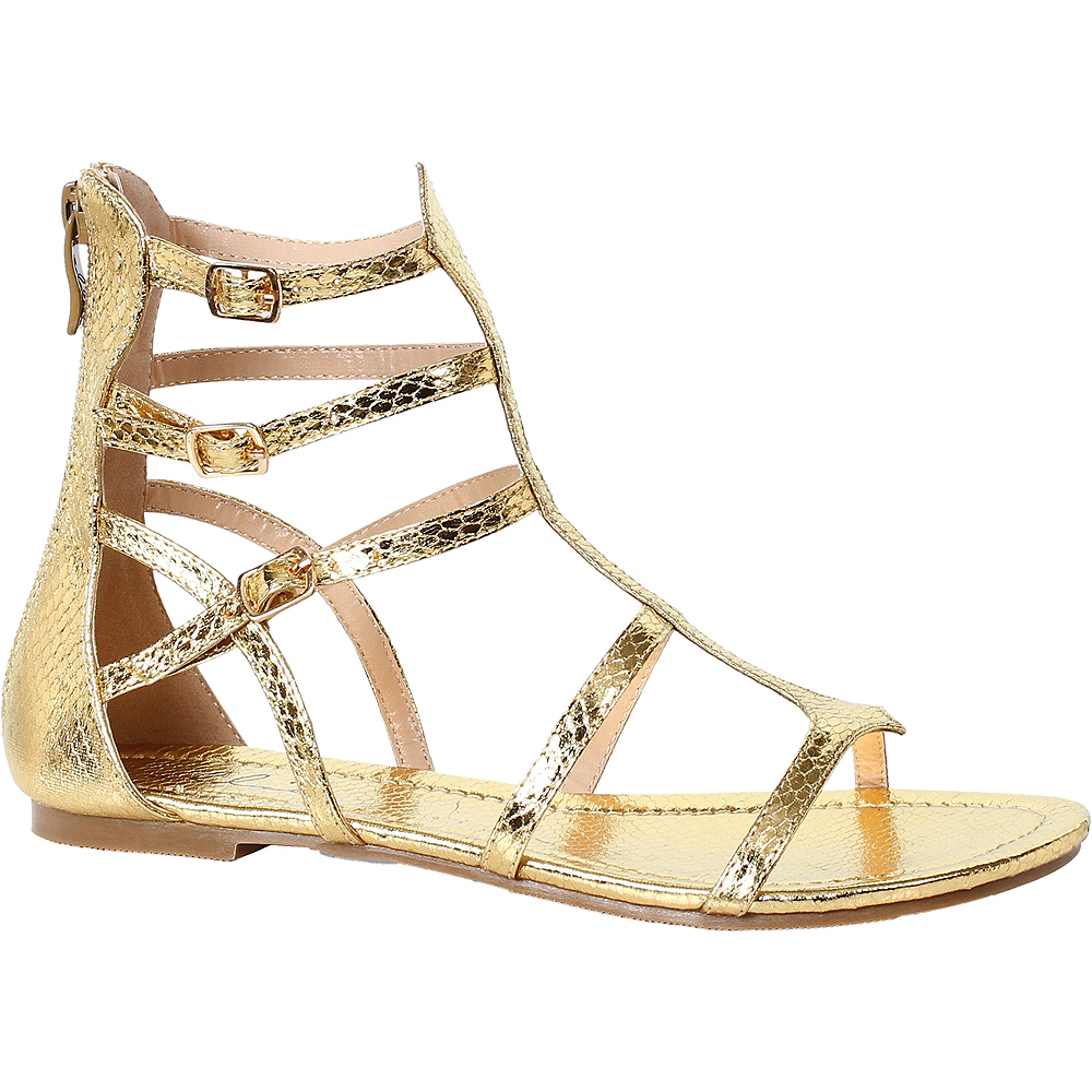 Womens Gold Athena Gladiator Sandals Image #1