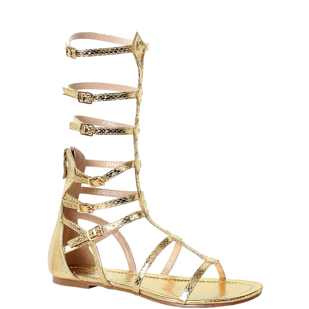 Womens Gold Zena Gladiator Sandals Image #1