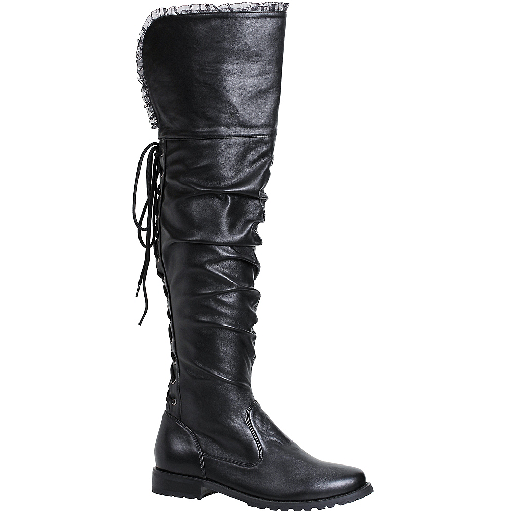 Nav Item for Womens Tyra Black Pirate Boots Image #1