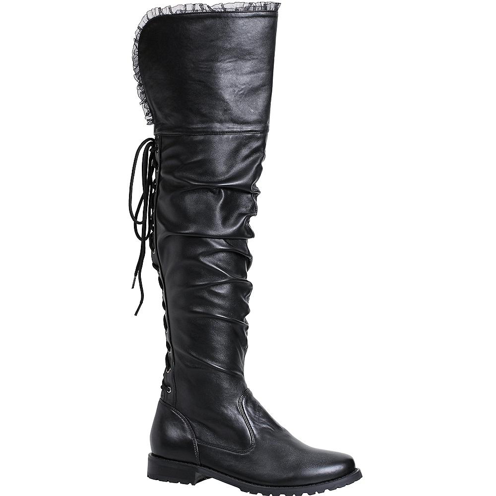 Womens Tyra Black Pirate Boots Image #1