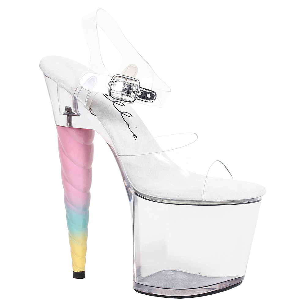 Womens Unicorn Heel Platform Sandals Image #1
