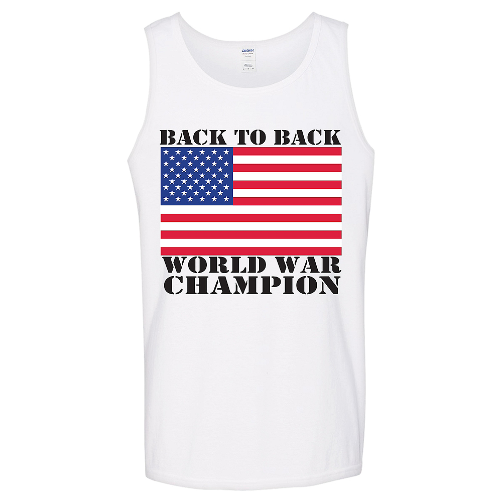 Patriotic American Flag World War Champion Tank Top Image #1