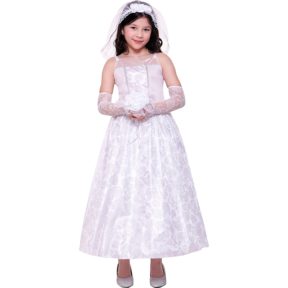 Girls Dreamy Bride Costume Image #1