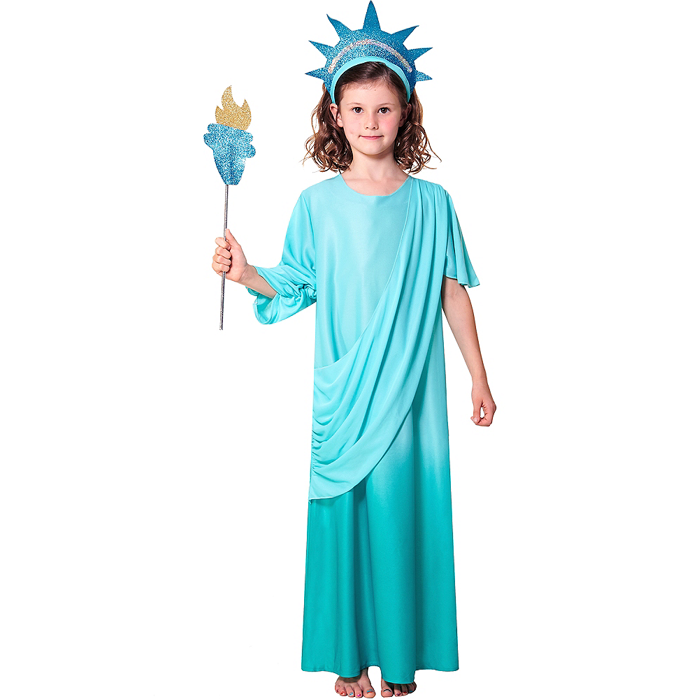 Nav Item for Girls Statue of Liberty Costume Image #1