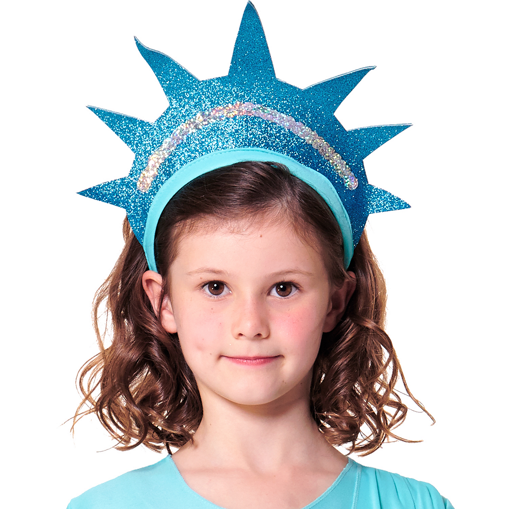 Nav Item for Girls Statue of Liberty Costume Image #3