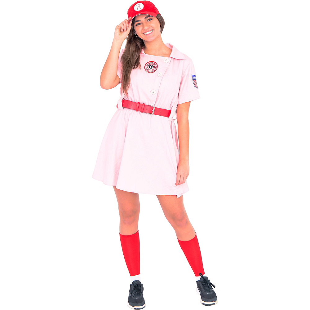 Womens AAGPBL Rockford Peaches Costume - A League of Their Own Image #1