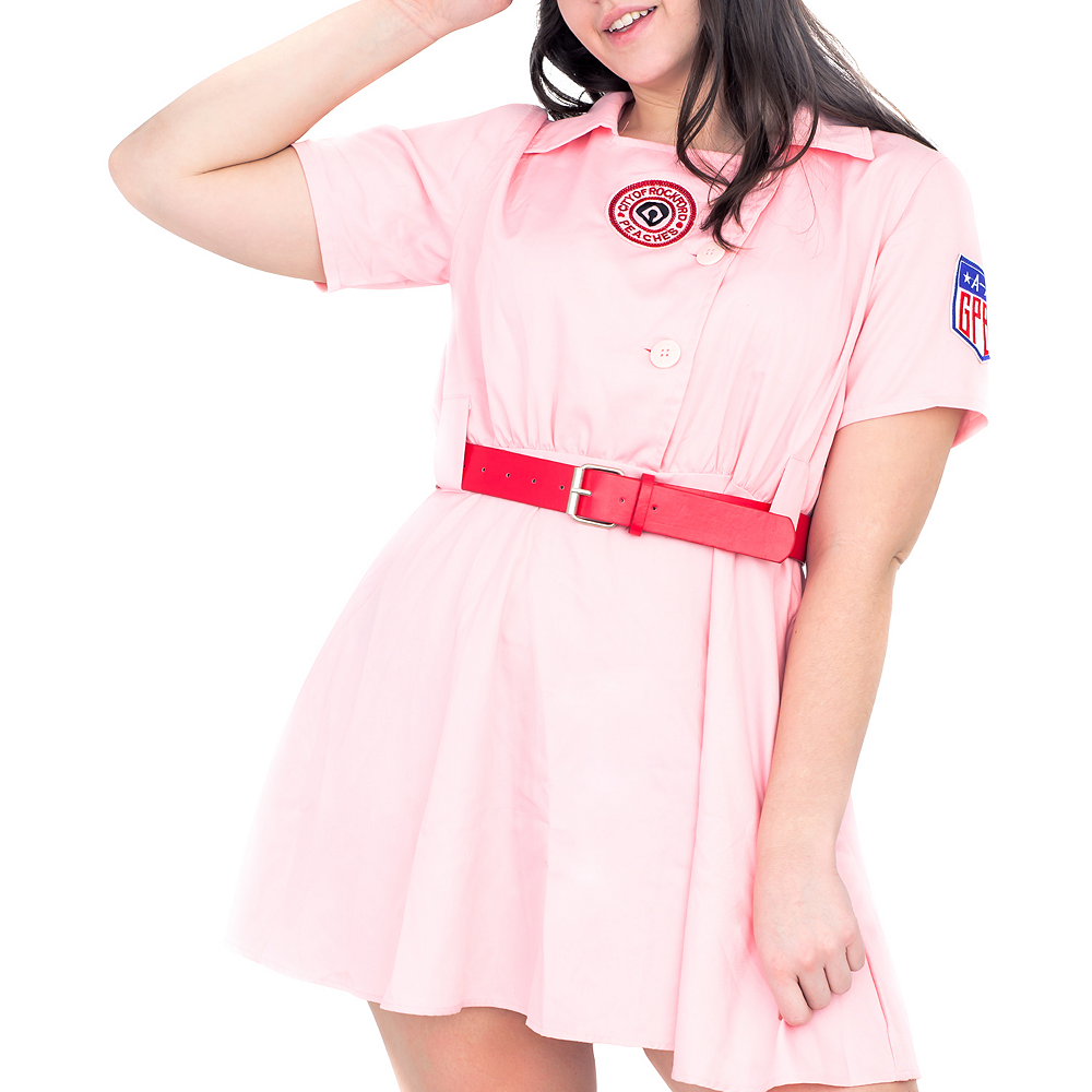 Womens AAGPBL Rockford Peaches Costume Plus Size - A League of Their Own Image #3