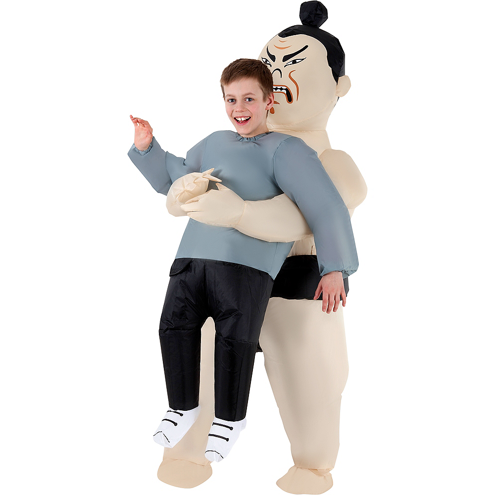Child Inflatable Sumo Wrestler Pick-Me-Up Costume Image #1