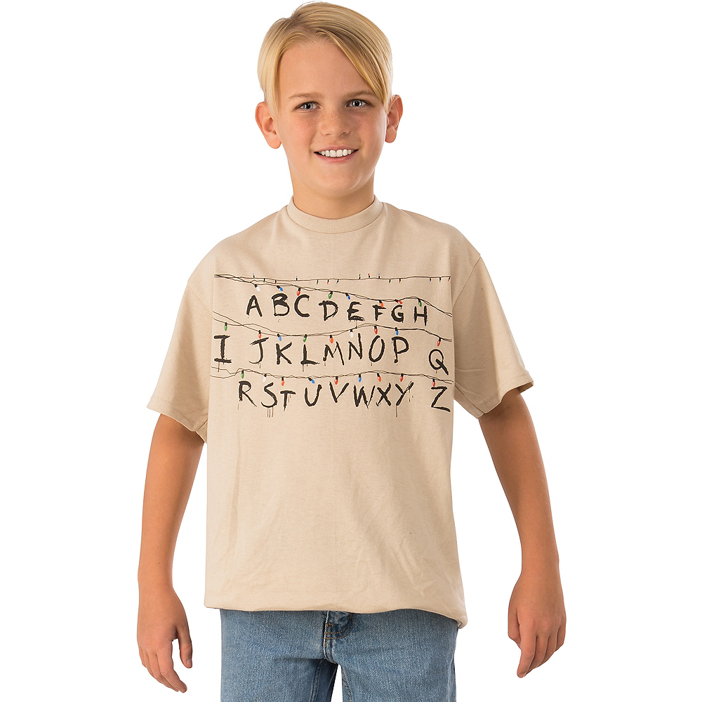 Child Alphabet Wall Shirt - Stranger Things Image #1