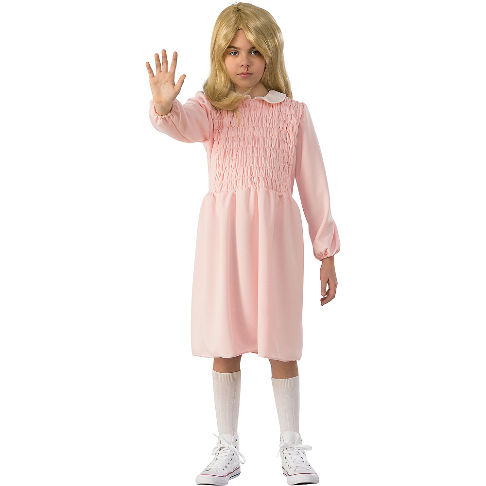girls eleven pink dress costume stranger things
