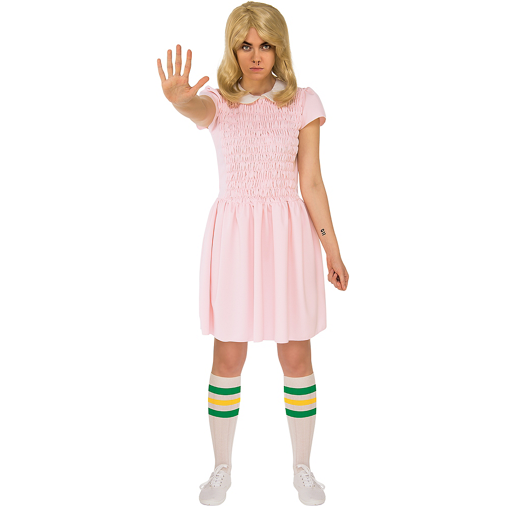 womens eleven pink dress costume stranger things party city