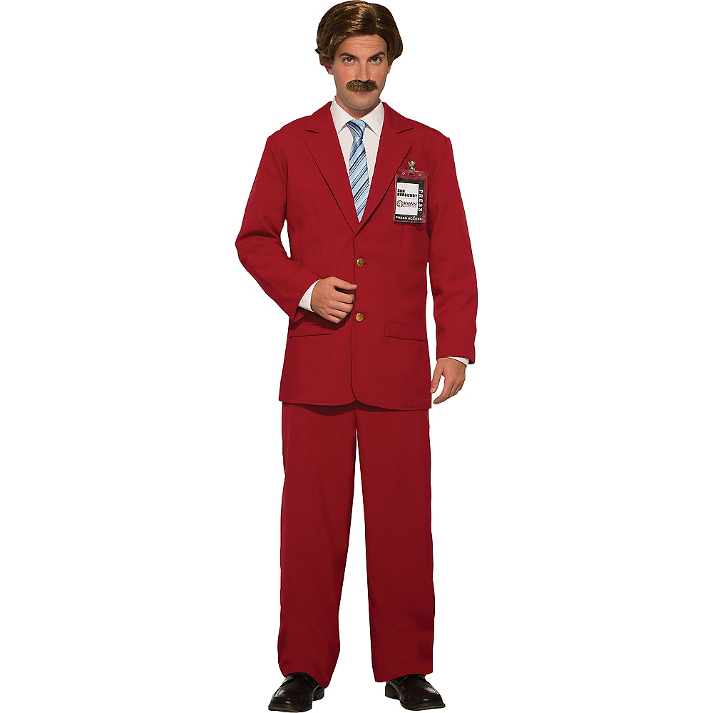 Mens Ron Burgundy Leisure Suit Costume - Anchorman Image #1