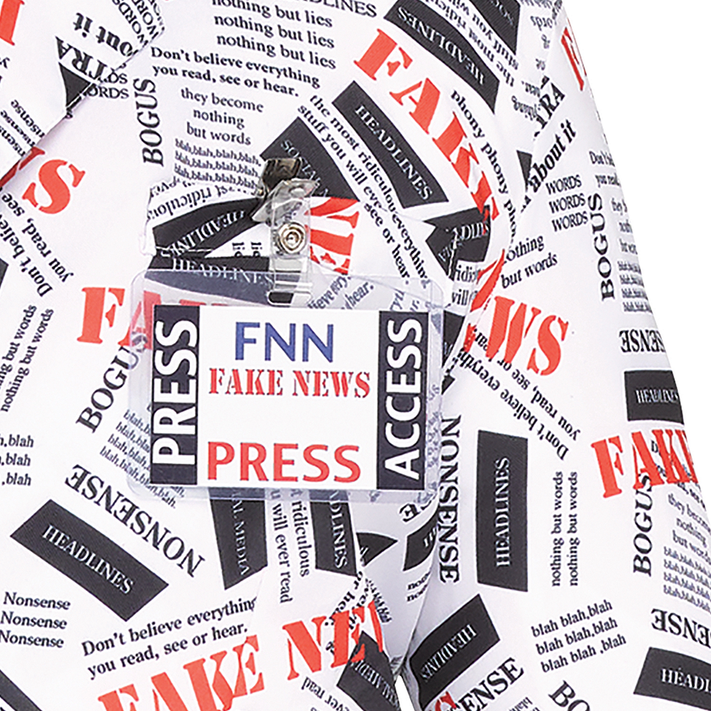 Mens Fake News Reporter Costume Image #3