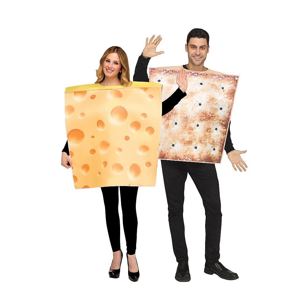 Adult Cheese & Cracker Couples Costumes Image #1