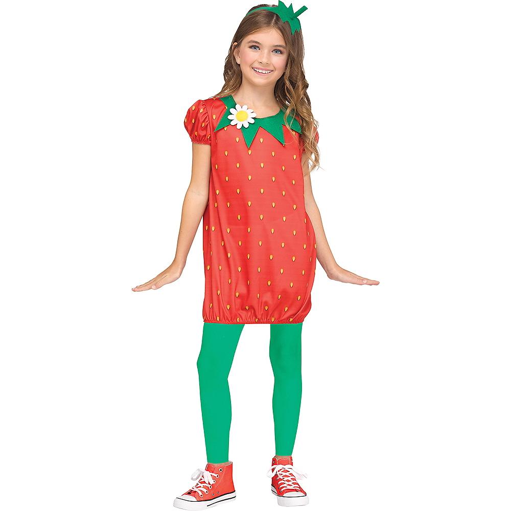 Girls Fun Fruit Strawberry Costume Image #1