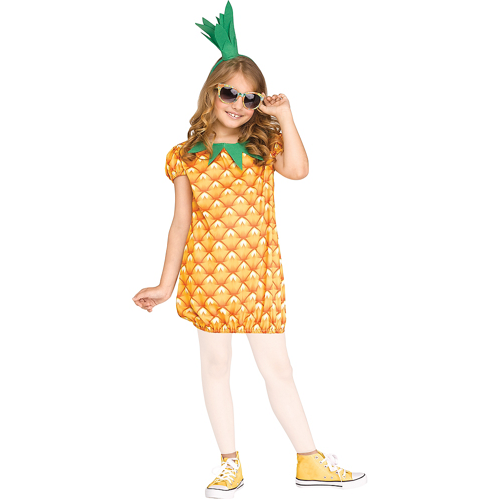 Girls Fun Fruit Pineapple Costume Image #1