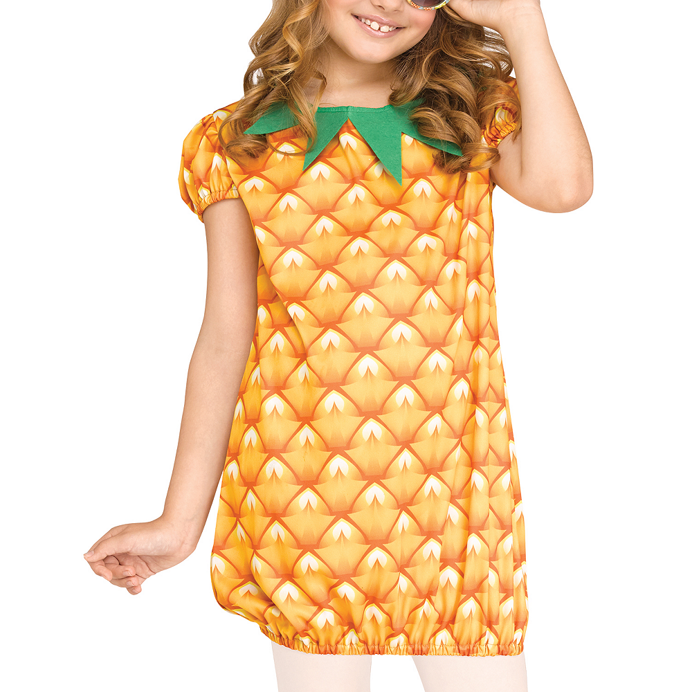 Girls Fun Fruit Pineapple Costume Image #3