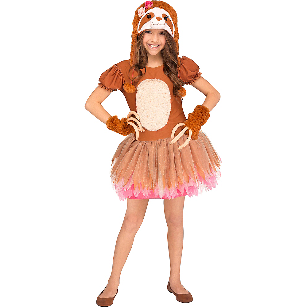 Nav Item for Girls Sassy Sloth Costume Image #1