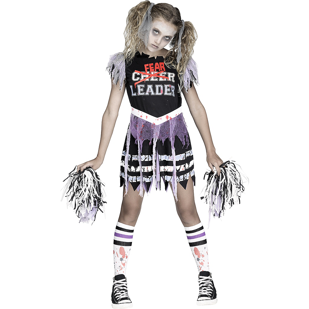 Nav Item for Girls Zombie Fearleader Costume Image #1