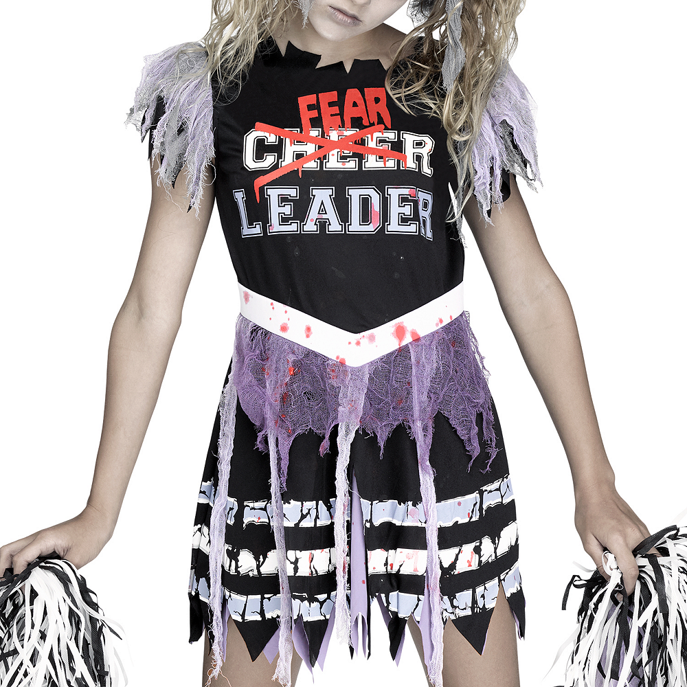 Girls Zombie Fearleader Costume Image #2