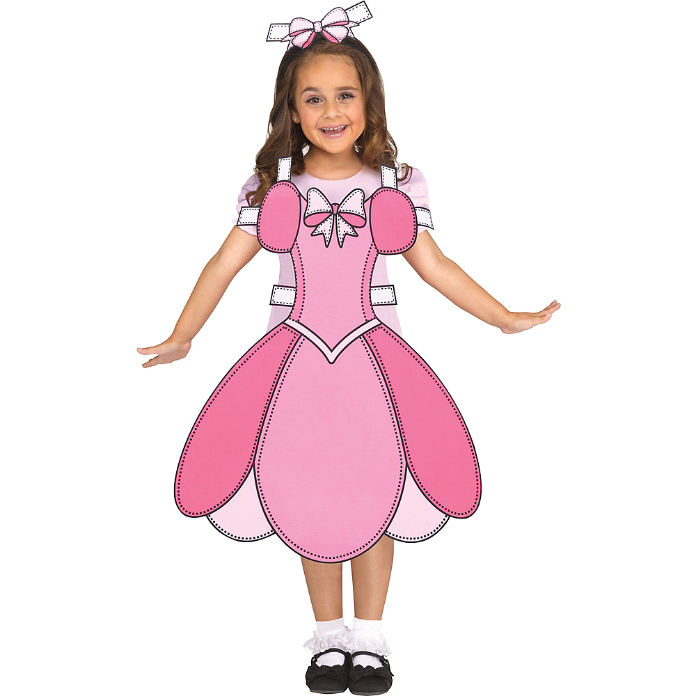 Girls Paper Doll Costume Image #1