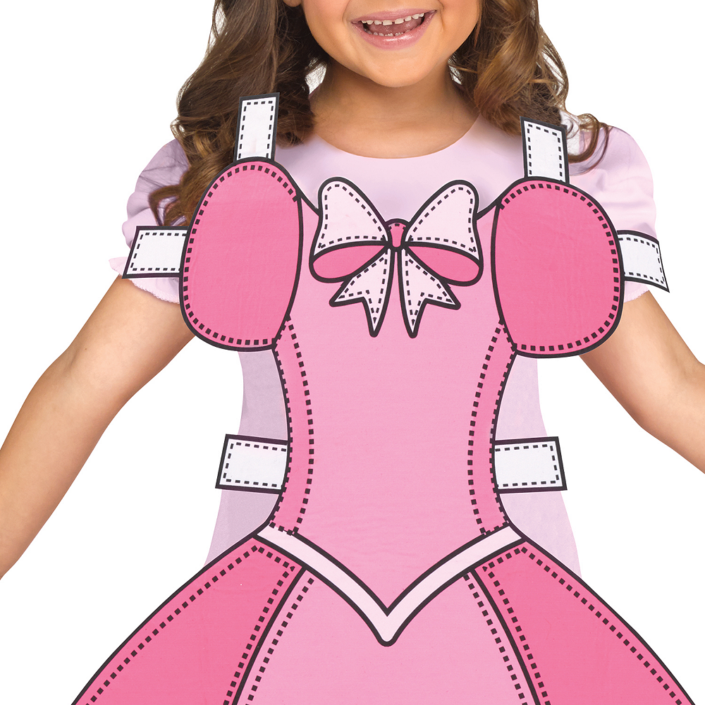 Girls Paper Doll Costume Image #3