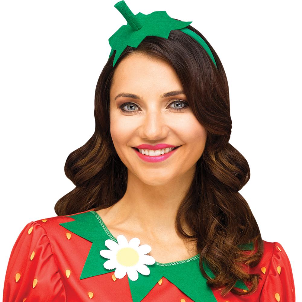 Womens Flirty Fruit Strawberry Costume Image #2