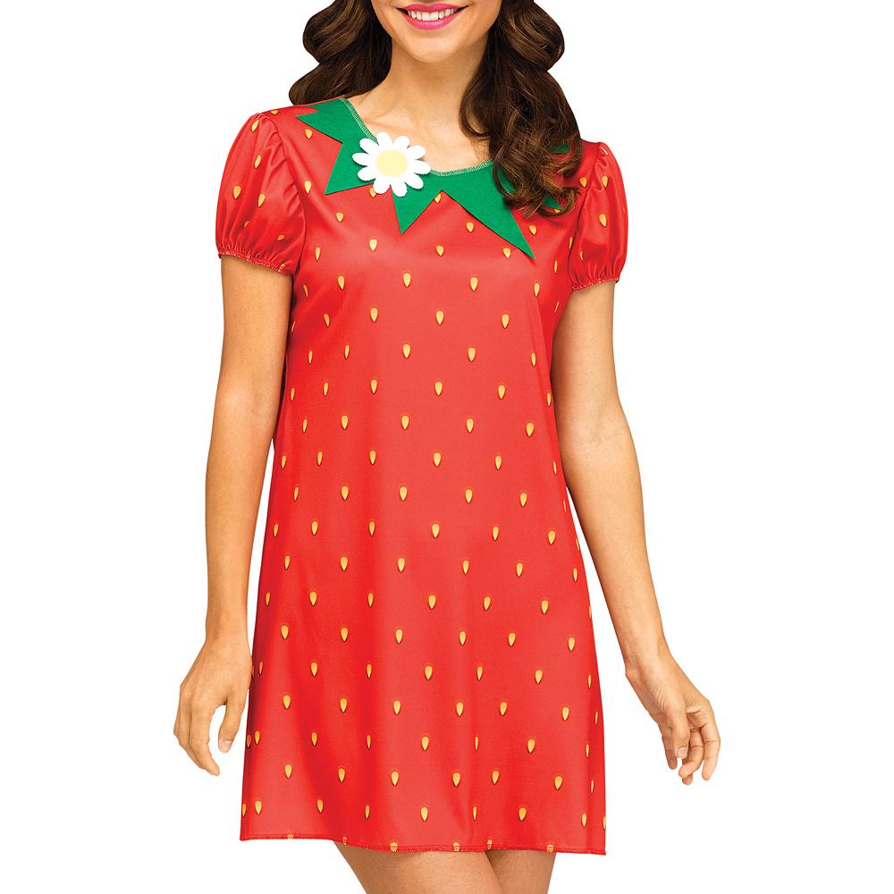 Womens Flirty Fruit Strawberry Costume Image #3